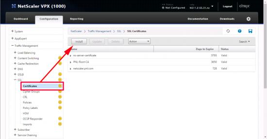 Import Certificate Netscaler