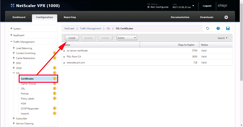 Citrix NetScaler - \'Certificate is not a server certificate ...