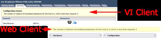 HA Error ESX Heartbeat Datastore