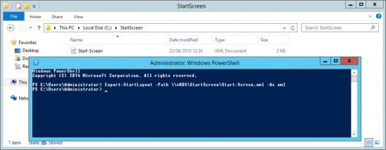 2012 Export Custom Start Screen to XML