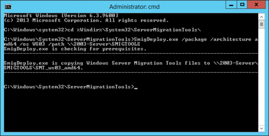 Deploy Server 2012 File Migraiton Tools
