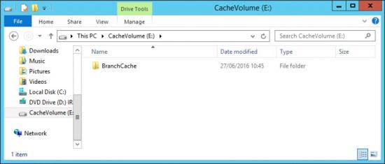 BranchCache Folder