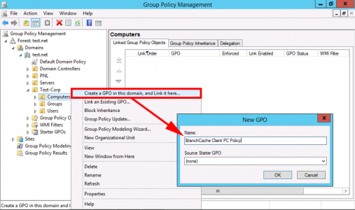 BranchCache Configure Client PC GPO