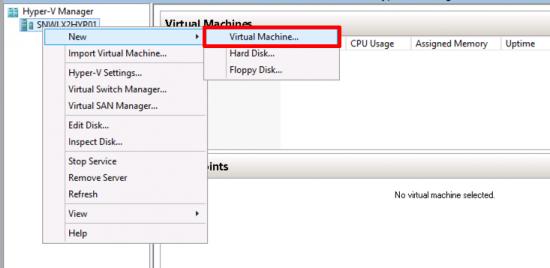 Hyper-V Create New VM