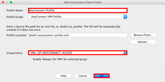 Assign AnyConnect Profile
