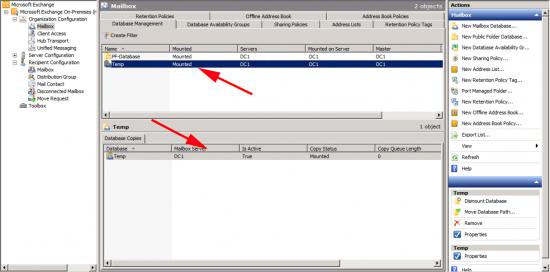 Create Mailbox Database