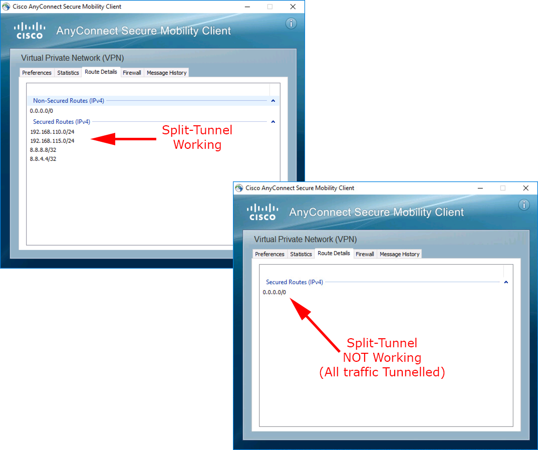 Cisco VPN - Split Tunnel Not Working? | PeteNetLive