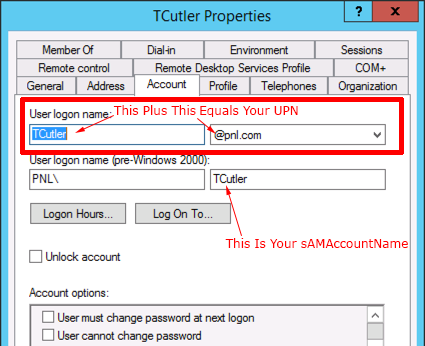 Changing Domain Users' 'User Logon Names' and UPN's