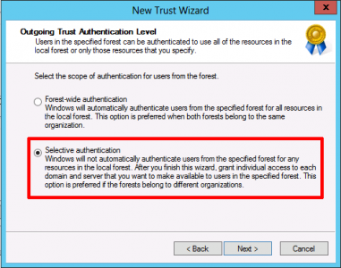 Trust Selective Authentication