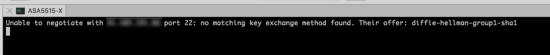 Mac SSH Error no matching key exchange