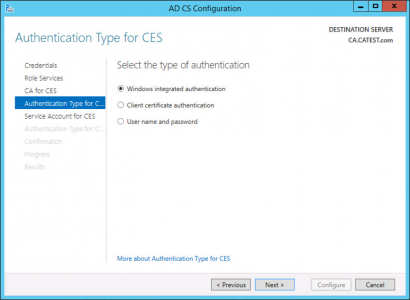 CES Authentication Type