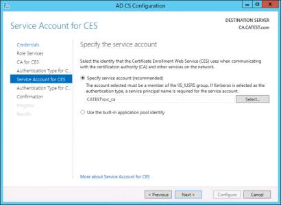 CES Service Account