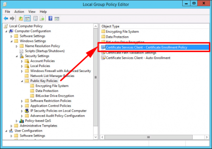 Enrollment Policy Local Group Policy