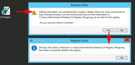 013 - Merge Into Registry