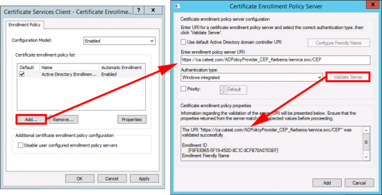 Configure URI for CES with Group Policy
