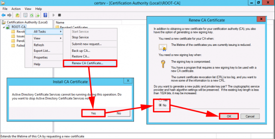 Create New CA Cert