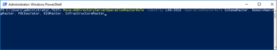 2016 Move FSMO Roles PowerShell
