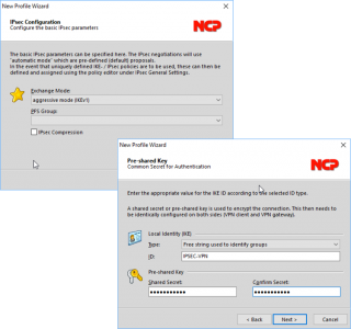 ncp vpn group authentication settings