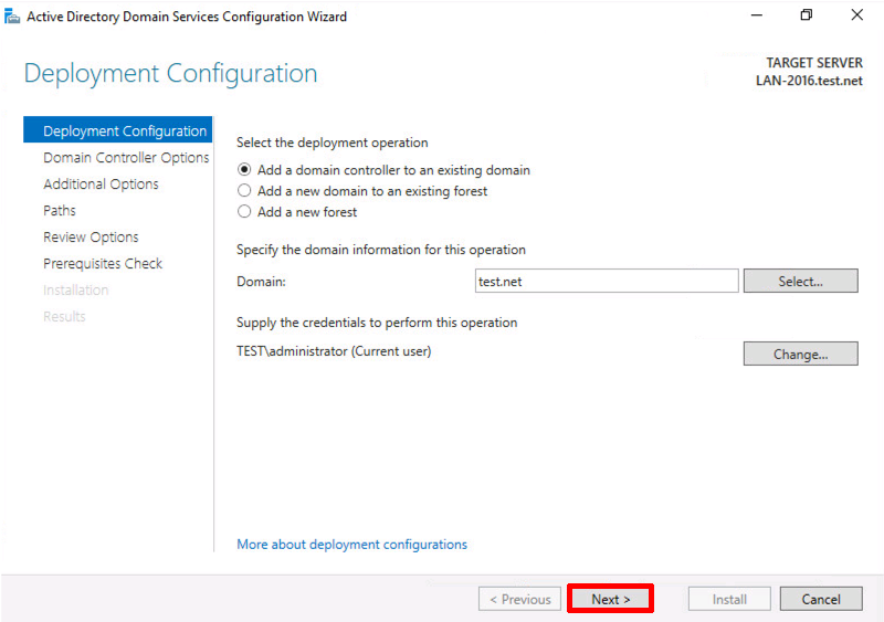 How to configure additional domain controller in windows server 2008 r2