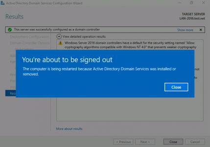 Reboot Domain Controller
