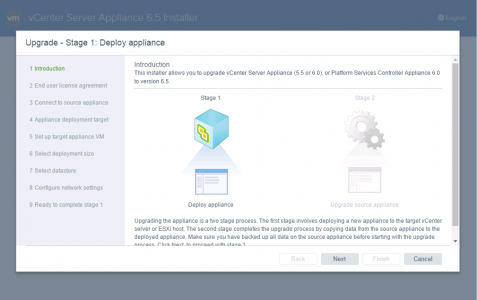 Deploy vCenter Appliance
