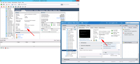 vcenter host details