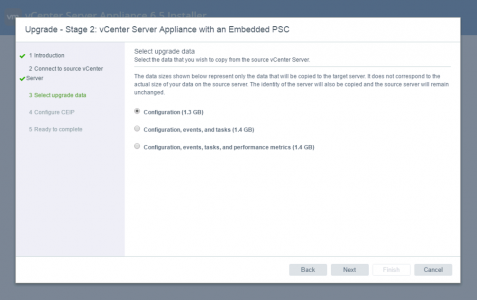 vCenter Appliance Migration