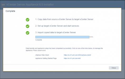 Complete vCenter Part 2 Migration