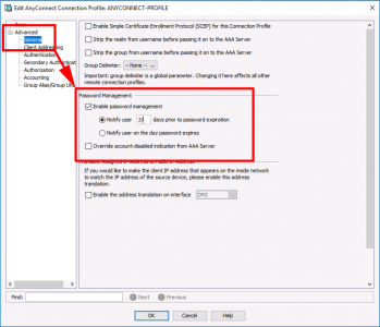 Cisco LDAP Allow Password Change