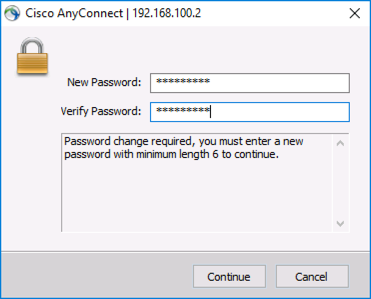 Cisco Change Domain Password via VPN
