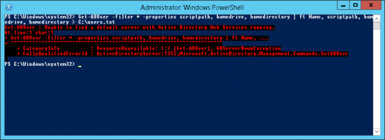 Active Directory Web Services Running