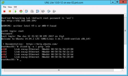 Show UNL Ethernet