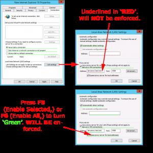 Manage IE settings via GPO