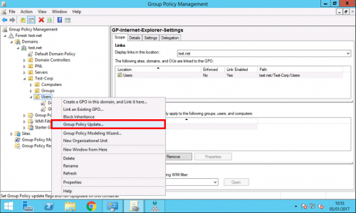 Force Group Policy From Server