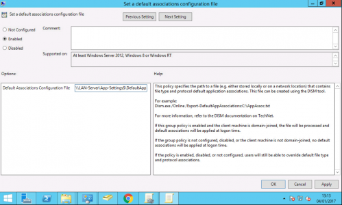 Group Policy File Association