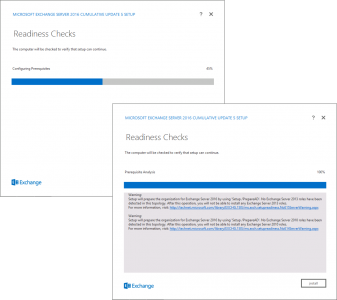 Exchange 2016 Readiness Checks
