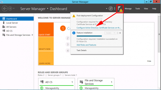 Configure Certificate Services