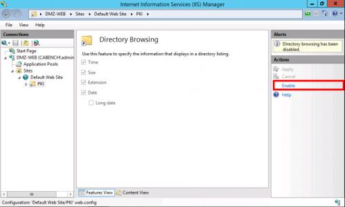 IIS Enable Directory Browsing