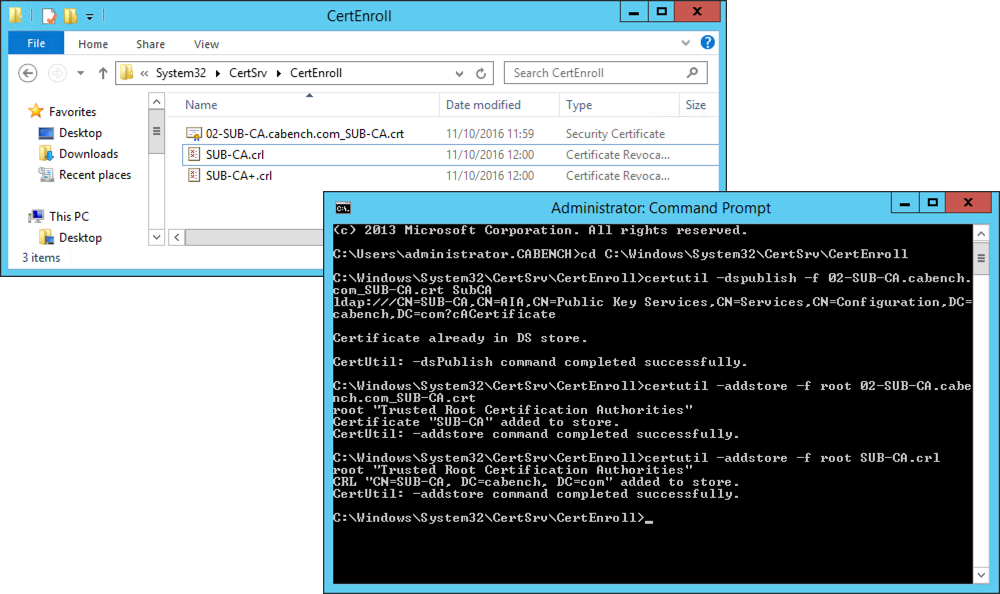 Microsoft pki planning and deploying certificate services part 3 publish subca and crl yadclub Image collections