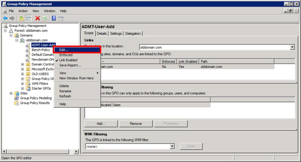 ADMT (Active Directory Migration Tool) Domain Migration – Part 2