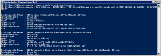 Powershell List AD Groups