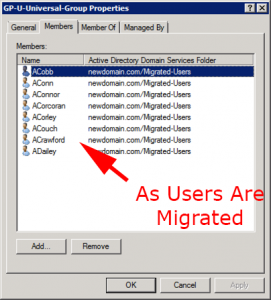ADMT Migrated Users
