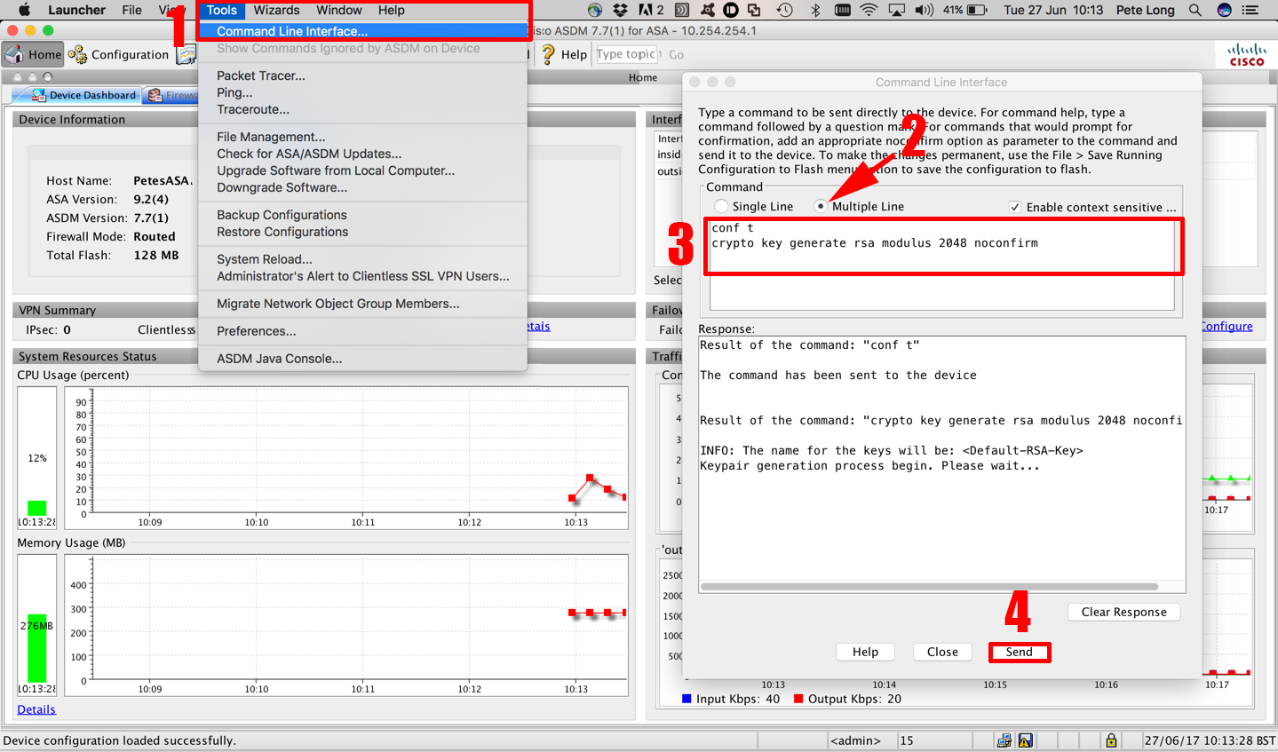 Cisco ASA - Gernerate RSA Keypair From ASDM | PeteNetLive