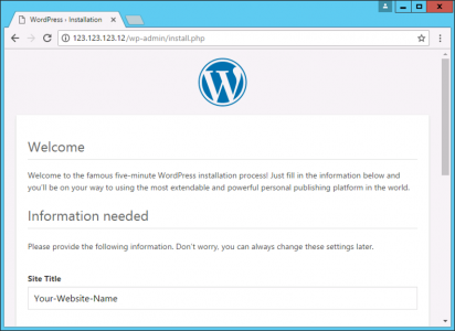 WordPress Setup
