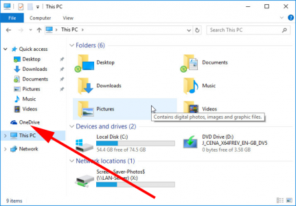 OneDrive icon Windows Explorer