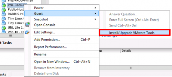 Present VMware Tools DVD