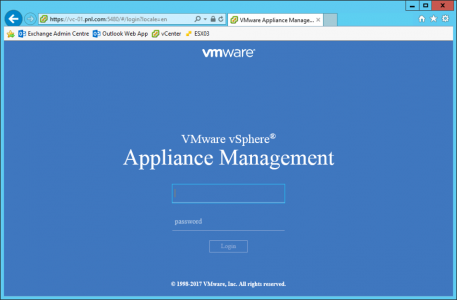 vCenter Appliance Management Port