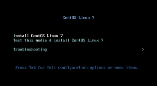 Install CentOS