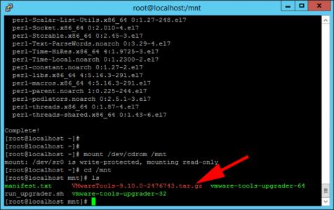 Linux Install VMware Tools