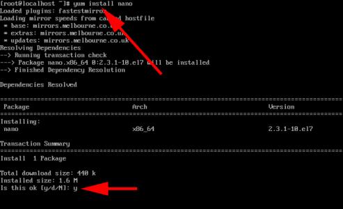 Linux Install nano
